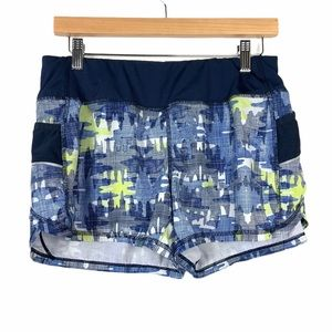 Athleta Athletic Shorts Small Blue Green Lined